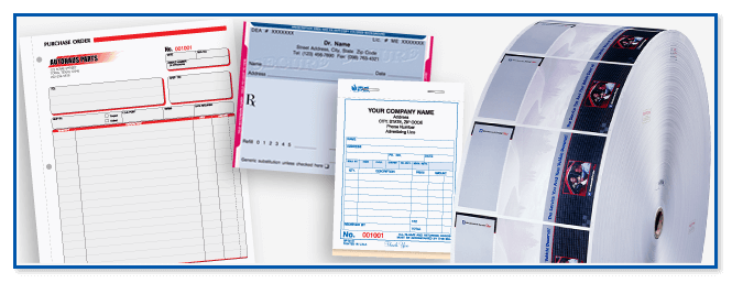 Custom business form printing for government agencies