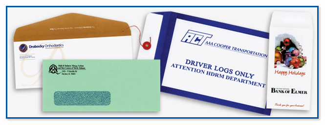 Envelope printing for government agencies