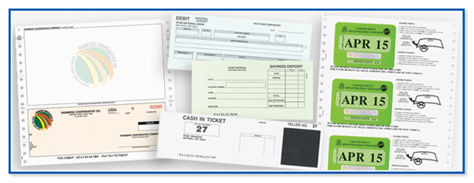 Financial document printing for government agencies