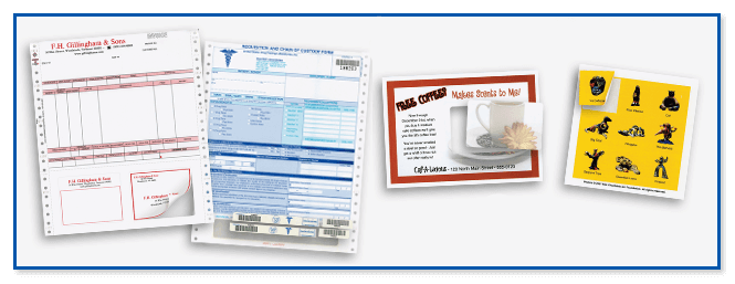 Integrated form/label/card printing for government agencies