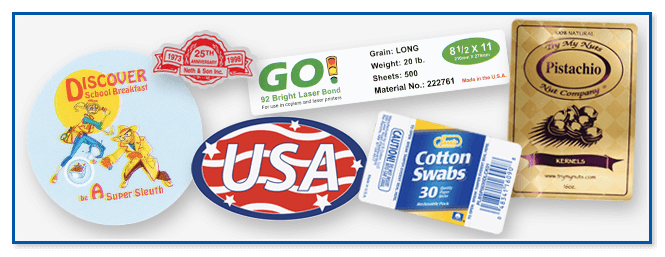 Custom label printing for government agencies